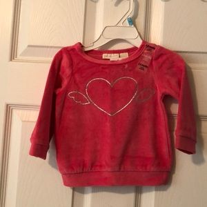 NWT First Impressions velour long sleeve top